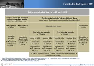 Fiscalite stock options expatries